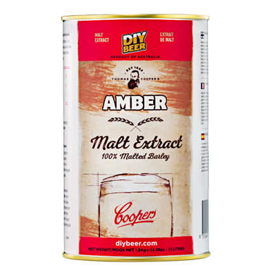 SPECIAL OFFER - Coopers 1.5Kg Tin Of Liquid Malt Extract - Amber (Medium) - Dented Tin