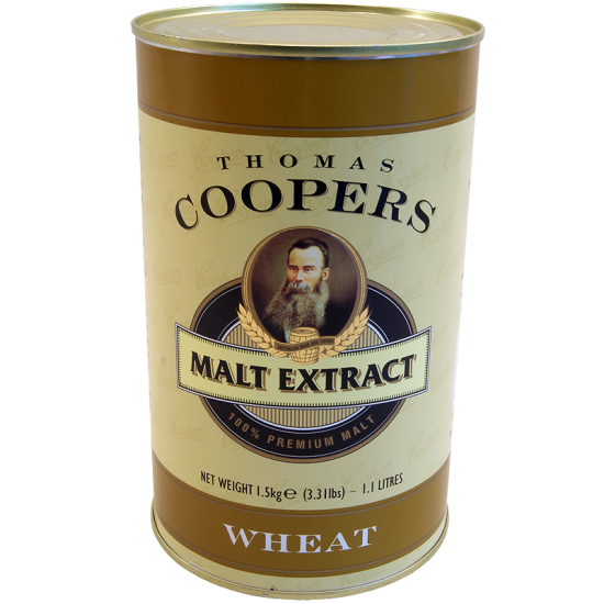Coopers 1.5Kg Tin Of Wheat Malt Extract