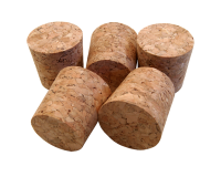 Solid Cork Bungs To Fit Standard 1 Gallon Demijohn - Pack Of 5