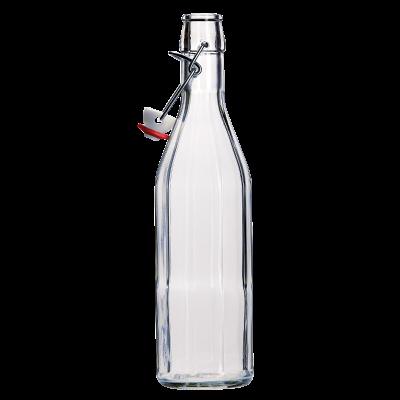 500ml Clear Costalata Swing Top Bottle