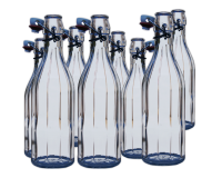 500ml Clear Costalata Swing Top Bottles - Pack of 8