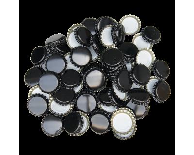 100 x Crown Caps - Black