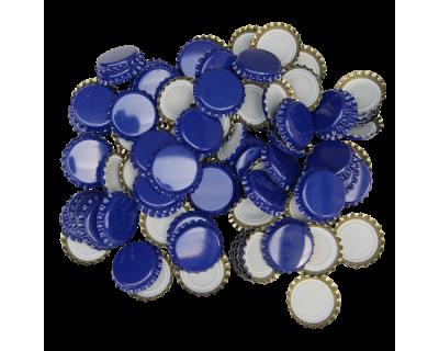 100 x Crown Caps - Blue