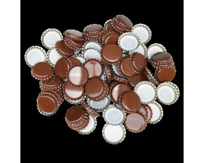 100 x Crown Caps - Brown