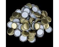 100 x Crown Caps - Gold