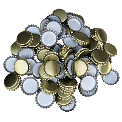 250 Crown Bottle Caps - Gold
