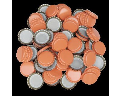 100 x Crown Caps - Orange