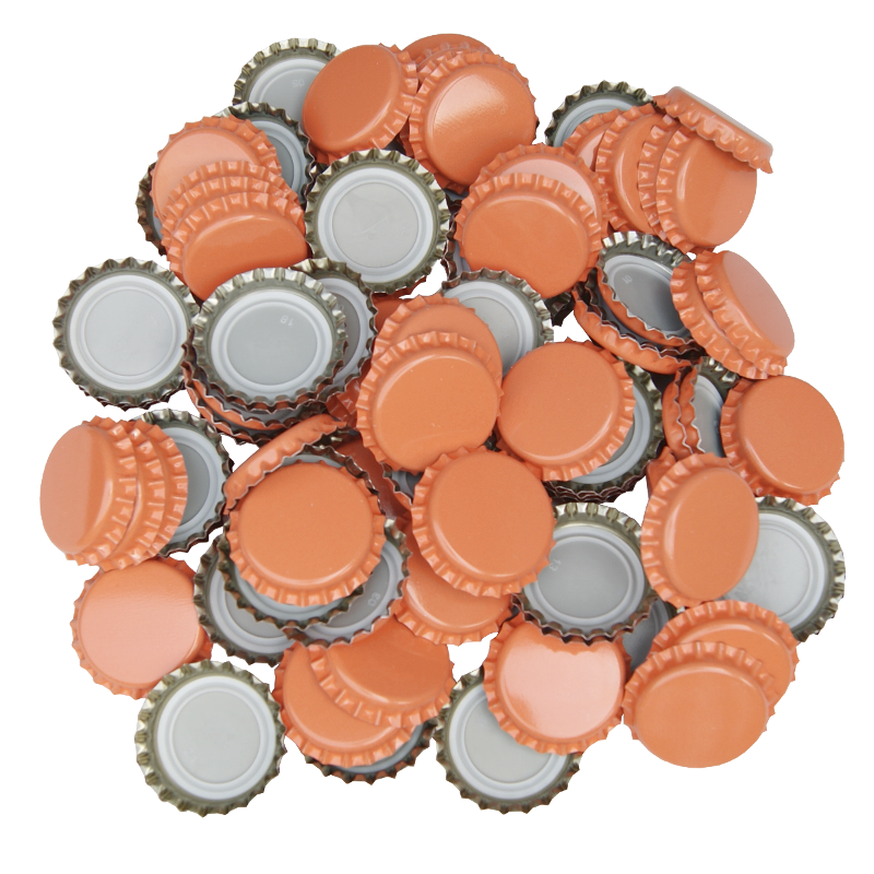 250 Crown Bottle Caps - Orange - Balliihoo