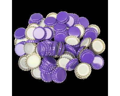 100 x Crown Caps - Purple