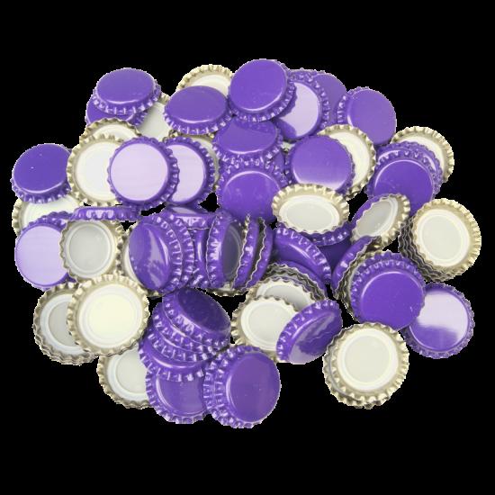 250 Crown Bottle Caps - Purple