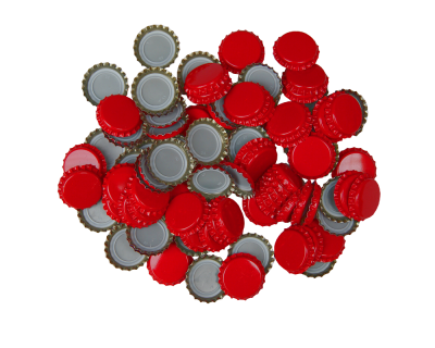 250 Crown Bottle Caps - Red