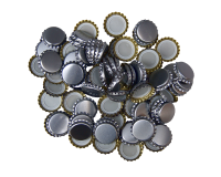 250 Crown Bottle Caps - Silver