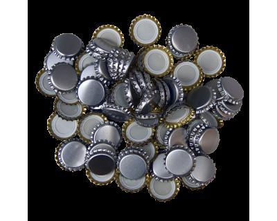 250 Crown Bottle Caps - Silver