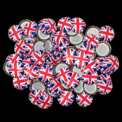 250 Crown Bottle Caps - Union Jack