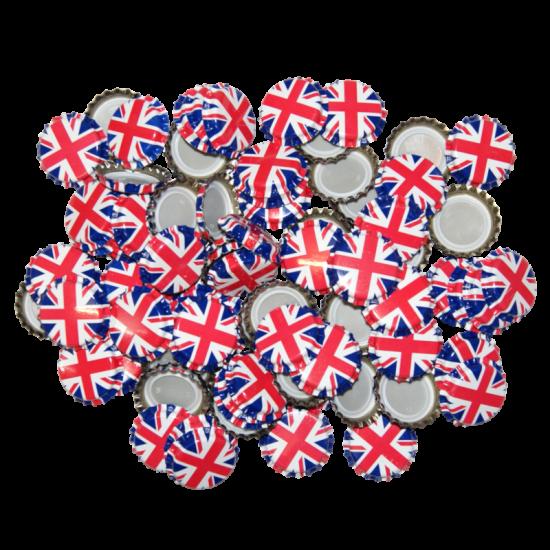 100 x Crown Caps - Union Jack