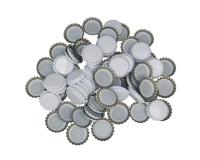 250 Crown Bottle Caps - White