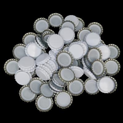 250 Crown Bottle Caps - White
