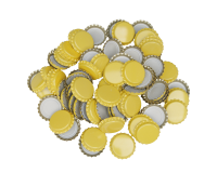 100 x Crown Caps - Yellow