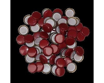 250 Crown Bottle Caps - Burgundy