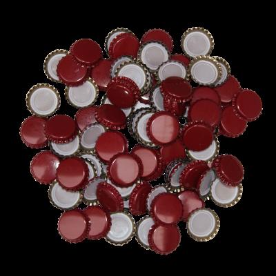 100 x Crown Caps - Burgundy