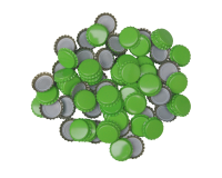 250 Crown Bottle Caps - Light Green