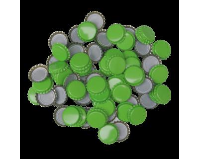 100 x Crown Caps - Light Green