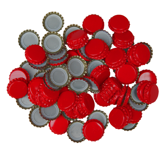 100 x Crown Caps - Red