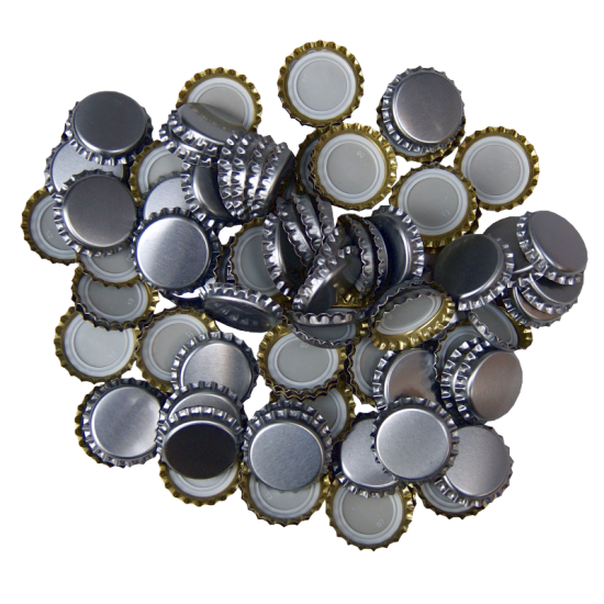 100 x Crown Caps - Silver