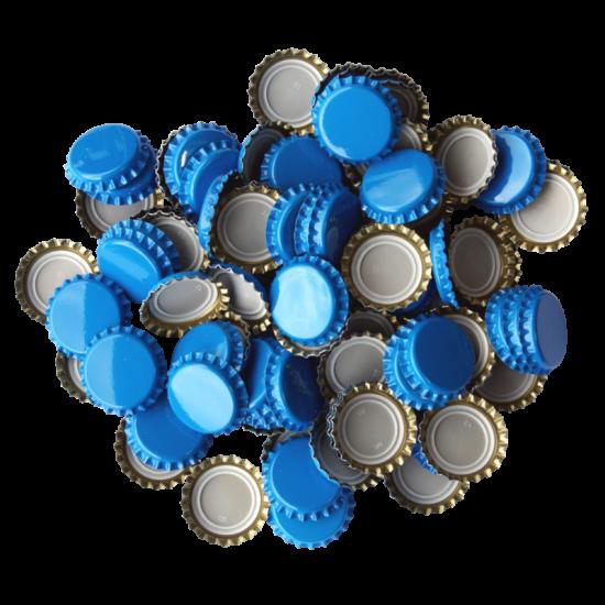 100 x Crown Caps - Sky Blue
