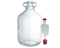 Single Glass 5l Demijohn - With Bung And Bubbler Airlock
