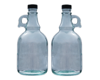 1 Litre Glass Gallone Bottle - Pack of 2 - Flagon Style