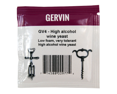 Gervin Yeast - GV4 High Alcohol Wine Yeast