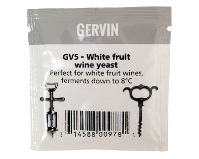 Gervin Yeast - GV5 White Fruit Wine Yeast