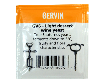 Gervin Yeast - GV6 Light Dessert Wine Yeast