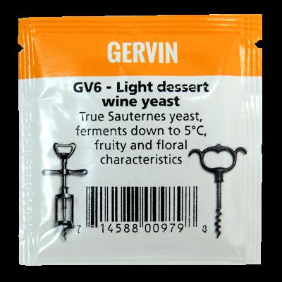 Gervin Yeast - GV6 Light Dessert Wine Yeast