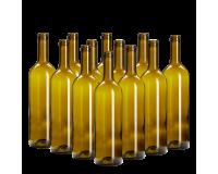 Wine Bottles Green Box Of 12 -750ml Glass Including Corks