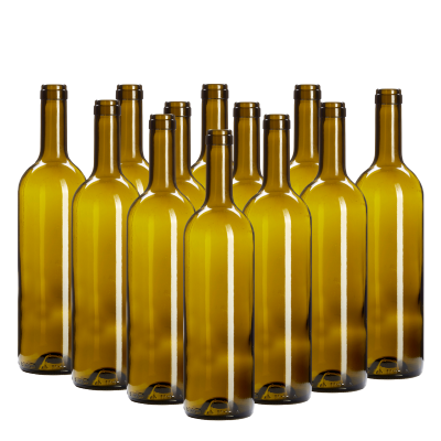 Wine Bottles Green Box Of 12 -750ml Glass Including Corks