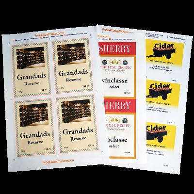 A4 Dry Gummed Label Paper - Pack Of 8 Sheets For Wine And Beer Bottle Labels
