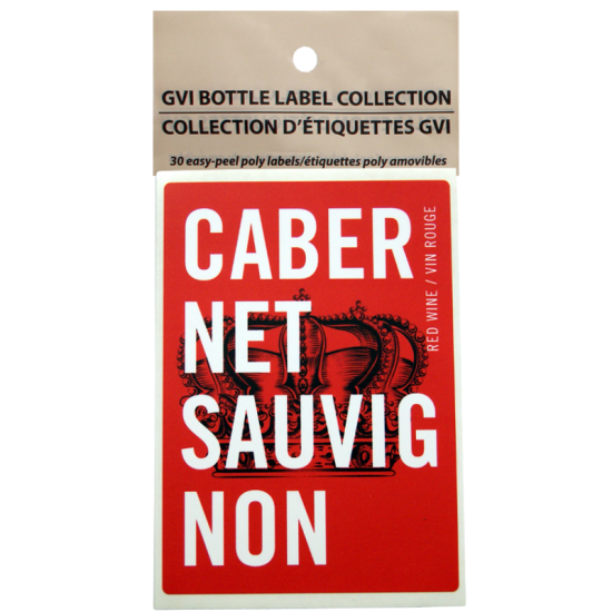 GVI Printed Wine Sticker Labels - Cabernet Sauvignon