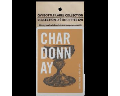 GVI Printed Wine Sticker Labels - Chardonnay