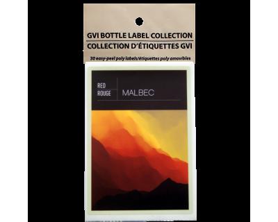GVI Printed Wine Sticker Labels - Malbec