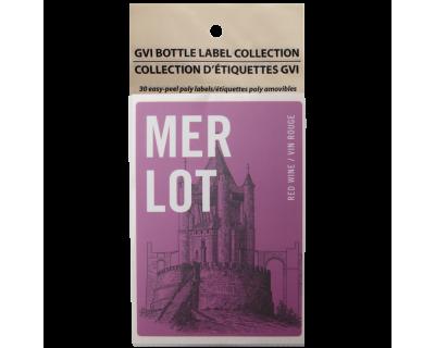 GVI Sticker Labels - Merlot