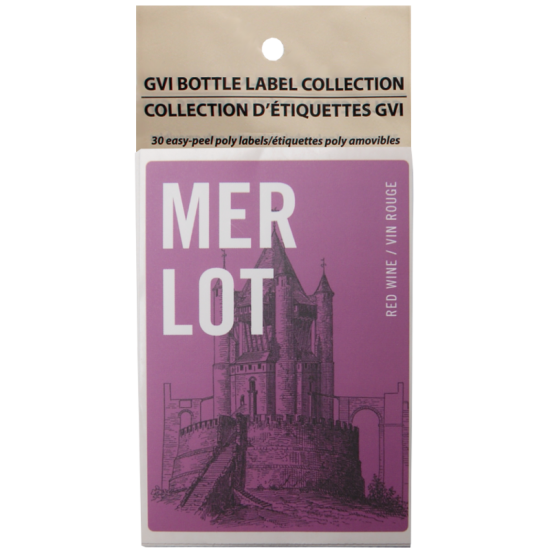 GVI Printed Wine Sticker Labels - Merlot