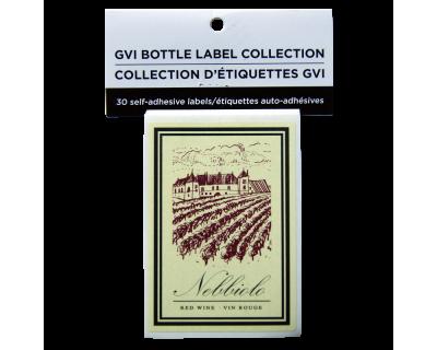 GVI Printed Wine Sticker Labels - Nebbiolo