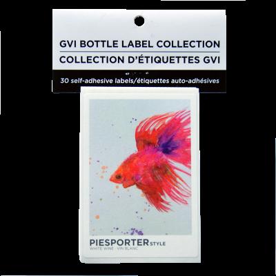 GVI Printed Wine Sticker Labels - Piesporter