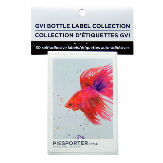 GVI Printed Wine Sticker Labels - Piesporter