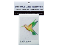 GVI Printed Wine Sticker Labels - Pinot Blanc