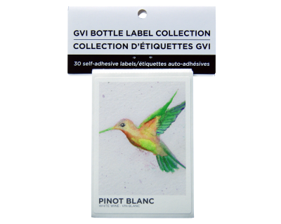 GVI Printed Wine Sticker Labels - Pinot Blanc