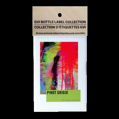 GVI Printed Wine Sticker Labels - Pinot Grigio