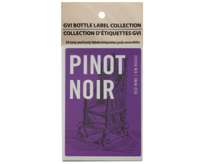 GVI Printed Wine Sticker Labels - Pinot Noir